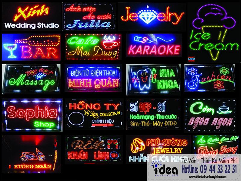 Bảng hiệu đèn led: Cập nhật báo giá bảng hiệu đèn led giá rẻ tại Tphcm